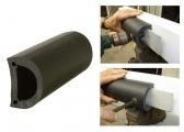 Défense ronde pour ponton / noir