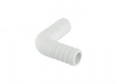 Hose Connector, Angled / White