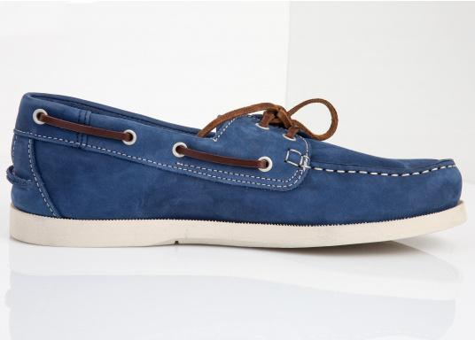 Ein authentischer und stylischer TBS-Decksschuh. Die patentierte Technigrip®-Sohle bietet den optimalen Halt und Wiederstandfähigkeit. Trotz der soliden Sohle, bleibt der Schuh flexibel und angenehm zu tragen. Farbe: cobalt blau. Erhältlich in den Größen: 41 - 46. (Bild 2 von 5)