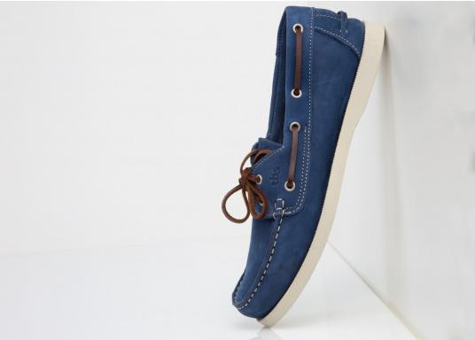 Ein authentischer und stylischer TBS-Decksschuh. Die patentierte Technigrip®-Sohle bietet den optimalen Halt und Wiederstandfähigkeit. Trotz der soliden Sohle, bleibt der Schuh flexibel und angenehm zu tragen. Farbe: cobalt blau. Erhältlich in den Größen: 41 - 46. (Bild 4 von 5)
