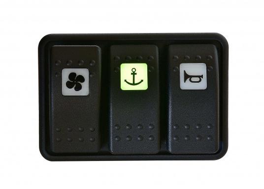 Wasser- und staubdichte CARLINGTECH Schalter, ON-OFF-ON, 2-polig. Mit neutraler LED.Geeignet für den uneingeschränkten Außen- und Inneneinsatz.Erhältlich in verschiedenen Ausführungen.  (Bild 6 von 7)