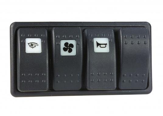 Wasser- und staubdichte CARLINGTECH Schalter, ON-OFF-ON, 2-polig. Mit neutraler LED.Geeignet für den uneingeschränkten Außen- und Inneneinsatz.Erhältlich in verschiedenen Ausführungen.  (Bild 7 von 7)