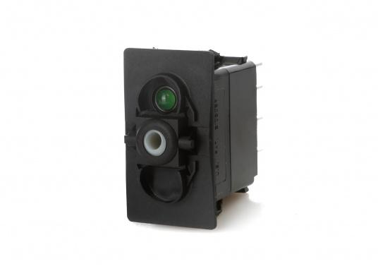 Wasser- und staubdichte CARLINGTECH Schalter, ON-OFF-ON, 2-polig. Mit neutraler LED.Geeignet für den uneingeschränkten Außen- und Inneneinsatz.Erhältlich in verschiedenen Ausführungen.