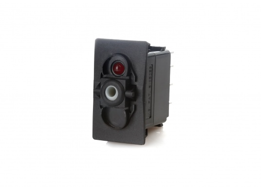 Wasser- und staubdichte CARLINGTECH Schalter, ON-OFF-ON, 2-polig. Mit neutraler LED.Geeignet für den uneingeschränkten Außen- und Inneneinsatz.Erhältlich in verschiedenen Ausführungen.  (Bild 2 von 7)