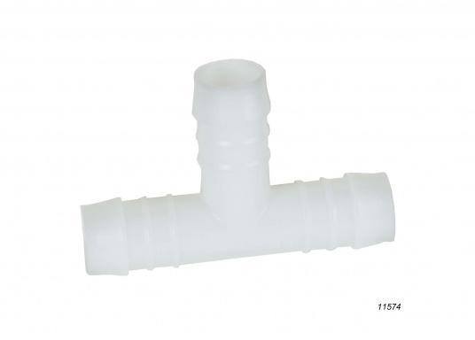 Diese weißen Schlauchverbinder sind aus belastbarem, stabilen Kunststoff hergestellt. Erhältlich in unterschiedlichenGrößen für verschiedene Schlauchdurchmesser.