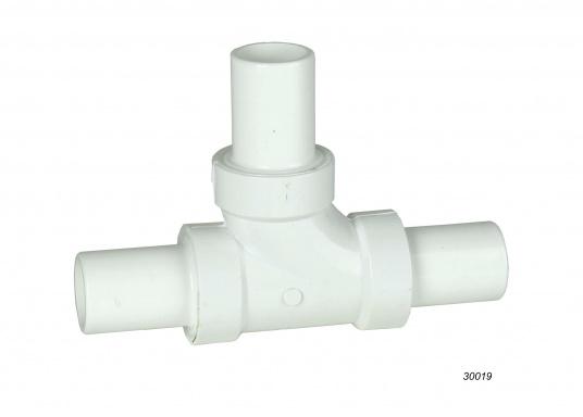 Diese weißen Schlauchverbinder sind aus belastbarem, stabilen Kunststoff hergestellt. Erhältlich in unterschiedlichenGrößen für verschiedene Schlauchdurchmesser.  (Bild 2 von 2)