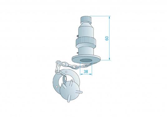 Diese Steckverbindungen aus Messing, verchromt sind gut geeignet für den Anschluss von Positionslaternen, Scheinwerfern etc. Sie sind wasserdicht und seewasserfest. Erhältlich in verschiedenen Ausführungen.  (Bild 5 von 5)
