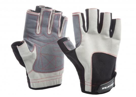 Der Handschuh DECKHAND wurde aus hochwertigem Ziegenleder hergestellt und ist mit Stretch-Einsatz am Handrücken, verstellbarem Klettverschluss am Handgelenk und verstärkten Handflächen ausgestattet. Version: ohne Finger. (Bild 2 von 5)