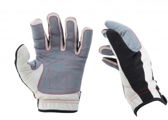Der Handschuh DECKHAND wurde aus hochwertigem Ziegenleder hergestellt und ist mit Stretch-Einsatz am Handrücken, verstellbarem Klettverschluss am Handgelenk und verstärkten Handflächen ausgestattet. Version: mit Finger. (Bild 3 von 4)