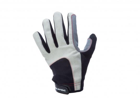 Der Handschuh DECKHAND wurde aus hochwertigem Ziegenleder hergestellt und ist mit Stretch-Einsatz am Handrücken, verstellbarem Klettverschluss am Handgelenk und verstärkten Handflächen ausgestattet. Version: mit Finger. (Bild 4 von 4)