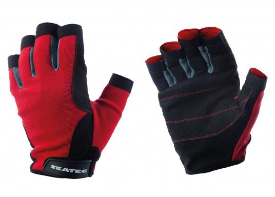 Der Handschuh TEAM sorgt dank der Amara®Handflächen jederzeit für einen sicheren Griff. Durch das flexible Mesh am Handrücken bietet der Handschuh eine exzellente Passform und ist zudem besonders atmungsaktiv. Version: ohne Finger. (Bild 3 von 5)