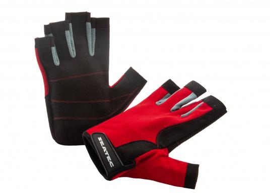 Der Handschuh TEAM sorgt dank der Amara®Handflächen jederzeit für einen sicheren Griff. Durch das flexible Mesh am Handrücken bietet der Handschuh eine exzellente Passform und ist zudem besonders atmungsaktiv. Version: ohne Finger. (Bild 5 von 5)