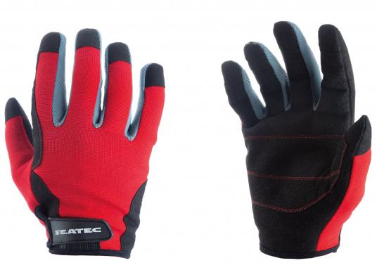 Der Handschuh TEAM sorgt dank der Amara® Handflächen jederzeit für einen sicheren Griff. Durch das flexible Mesh am Handrücken bietet der Handschuh eine exzellente Passform und ist zudem besonders atmungsaktiv. Version: mit Finger. (Bild 2 von 2)