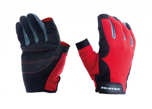 Der Handschuh TEAM sorgt dank der Amara® Handflächen jederzeit für einen sicheren Griff. Durch das flexible Mesh am Handrücken bietet der Handschuh eine exzellente Passform und ist zudem besonders atmungsaktiv. Version: Daumen und Zeigefinger offen.