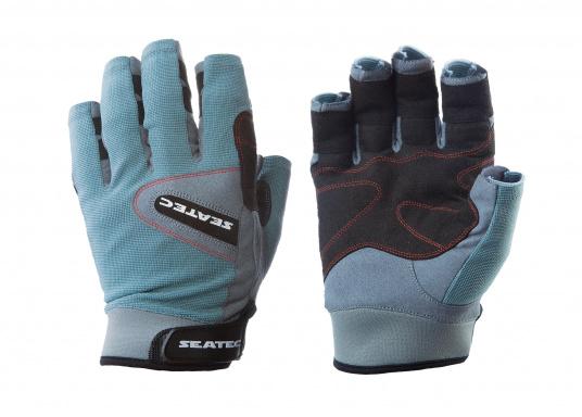 Speziell für extreme Situation gefertigter Handschuh. Geringe Abnutzung dank doppelter, herumgeführter Verstärkungen an Fingern und Handfläche. Version: ohne Finger. (Bild 3 von 3)