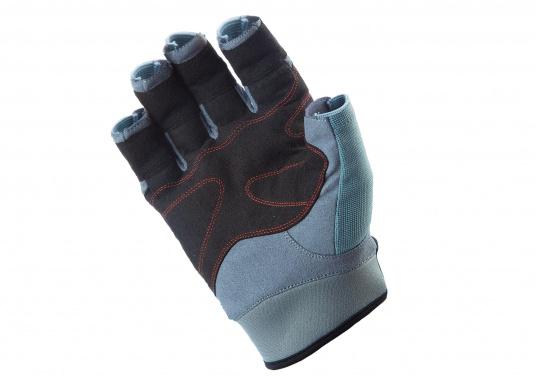 Speziell für extreme Situation gefertigter Handschuh. Geringe Abnutzung dank doppelter, herumgeführter Verstärkungen an Fingern und Handfläche. Version: ohne Finger. (Bild 2 von 3)