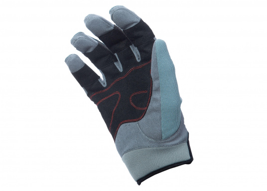 Speziell für extreme Situation gefertigter Handschuh. Geringe Abnutzung dank doppelter, herumgeführter Verstärkungen an Fingern und Handfläche. Version: mit Finger. (Bild 3 von 5)