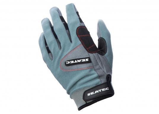 Speziell für extreme Situation gefertigter Handschuh. Geringe Abnutzung dank doppelter, herumgeführter Verstärkungen an Fingern und Handfläche. Version: mit Finger.