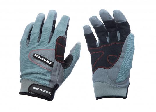 Speziell für extreme Situation gefertigter Handschuh. Geringe Abnutzung dank doppelter, herumgeführter Verstärkungen an Fingern und Handfläche. Version: mit Finger. (Bild 4 von 5)