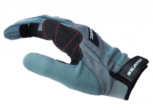 Speziell für extreme Situation gefertigter Handschuh. Geringe Abnutzung dank doppelter, herumgeführter Verstärkungen an Fingern und Handfläche. Version: mit Finger. (Bild 2 von 5)