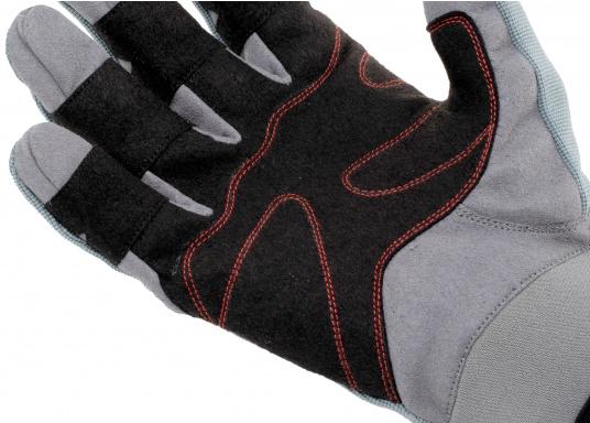 Speziell für extreme Situation gefertigter Handschuh. Geringe Abnutzung dank doppelter, herumgeführter Verstärkungen an Fingern und Handfläche. Version: mit Finger. (Bild 5 von 5)