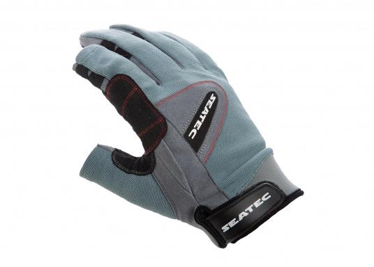 Speziell für extreme Situation gefertigter Handschuh. Geringe Abnutzung dank doppelter, herumgeführter Verstärkungen an Fingern und Handfläche. Version: Daumen und Zeigefinger offen. (Bild 2 von 4)