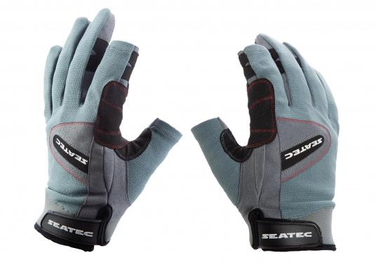 Speziell für extreme Situation gefertigter Handschuh. Geringe Abnutzung dank doppelter, herumgeführter Verstärkungen an Fingern und Handfläche. Version: Daumen und Zeigefinger offen. (Bild 3 von 4)