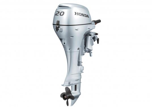 Verbesserte Beschleunigung und Verbrauch!Der Außenborder BF 20 von Honda ist ein leistungsstarker Motor mit einem drehzahloptimierten mikroprozessorgesteuerten Zündsystem.Der Außenborder BF 20 ist mit einem E-Starter und Automatik-Choke einfach zu starten.