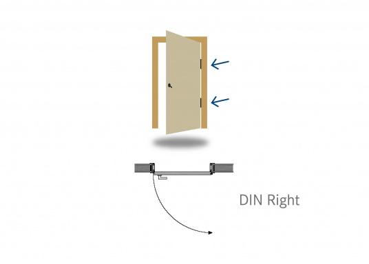 Cerradura con manilla originalpara su yate BAVARIA. La manilla se ajusta muy bien a la mano. Versión derecha.  (Imagen 4 de 4)