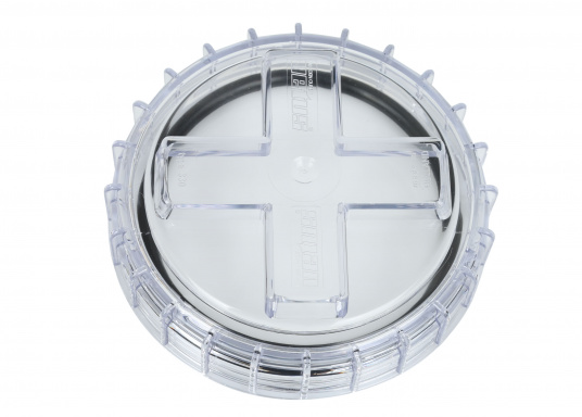 Originaler und passender Ersatzdeckel für den Seewasserfilter Typ 330 von VETUS. Lieferung inklusive Dichtring.