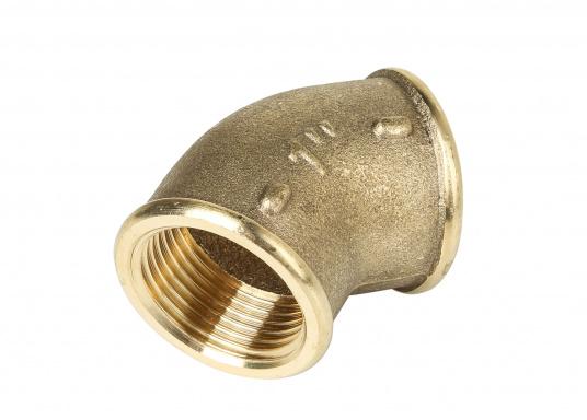 Coude 45° en cuivre CR avec filetages interne et externe. Plusieurs modèles disponibles.