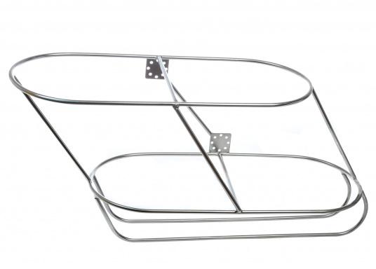 Sehr stabile Fenderkörbe für zwei Fender. Für verschiedene Fendergrößen lieferbar, in schräger Form.