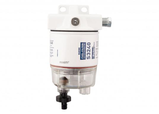 Compact petrol pre-filter with highly efficient fuel filtration system. The RACOR SPIN-ON filter is suitable for outboard engines. Flow rate: 114 L/h