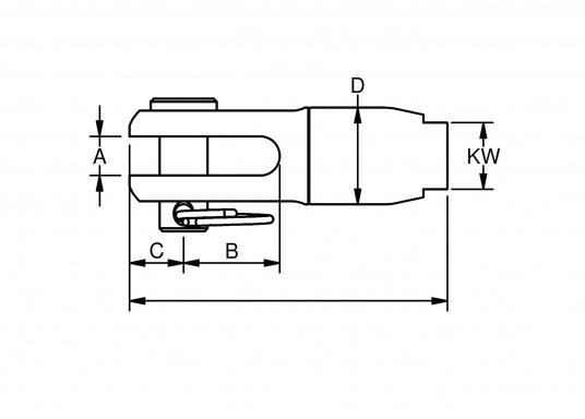 Brandneue, innovative Tauwerk-Terminals in einzigartigem Design, die viele Möglichkeiten zum Einsatz von Tauwerk im textilen Rigg bieten. (Bild 2 von 2)