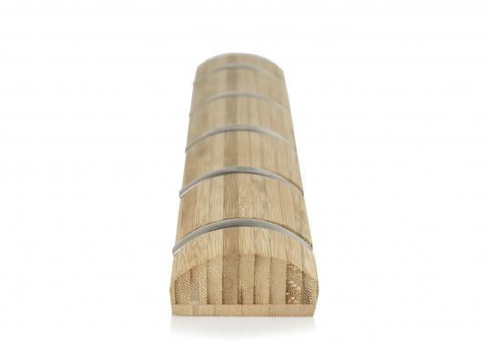 Stilvolles Design aus Bambus mit fünf einklappbaren Metall-Kleiderhaken. Rückseitige Befestigung.  (Bild 4 von 4)