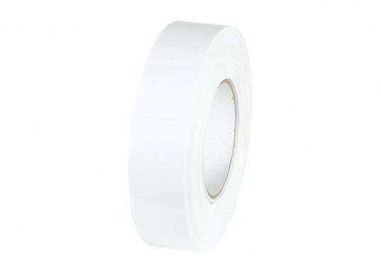 Selbstklebende Zierstreifen in 19 mm Breite. Rollenlänge: 15 m. Auch für den Wasserpass geeignet. Farbe: weiß.