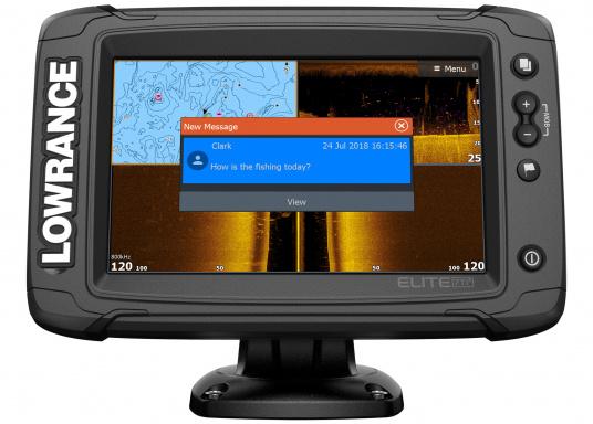 Das Display des EliteTi2bietet eine erweiterte, hochauflösende Sonar-Funktionalität, FishReveal, WLAN sowie die Anzeige von Anrufen und Textnachrichten per Bluetooth. Des Weiteren haben Sie die Möglichkeit über die NMEA2000-Konnektivität jegliche Art von Gebern anzuschließen und über die Seekartenanbieter Navionics oder C-Map sicher zu navigieren. Alles in allem enthält der Elite Ti2 sämtliche Funktionen, die Ihnen das Leben auf dem Wasser leichter machen. Lieferung ohne Geber. (Bild 5 von 6)