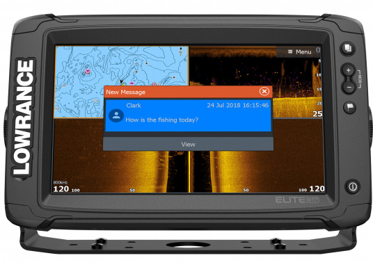 Das Display des EliteTi2bietet eine erweiterte, hochauflösende Sonar-Funktionalität,FishReveal, WLAN sowie die Anzeige von Anrufen und Textnachrichten per Bluetooth. Des Weiteren haben Sie die Möglichkeit über die NMEA2000-Konnektivität jegliche Art von Gebern anzuschließen und über die Seekartenanbieter Navionics oder C-Map sicher zu navigieren. Alles in allem enthält der Elite Ti2 sämtliche Funktionen, die Ihnen das Leben auf dem Wasser leichter machen. Lieferung ohne Geber. (Bild 3 von 8)