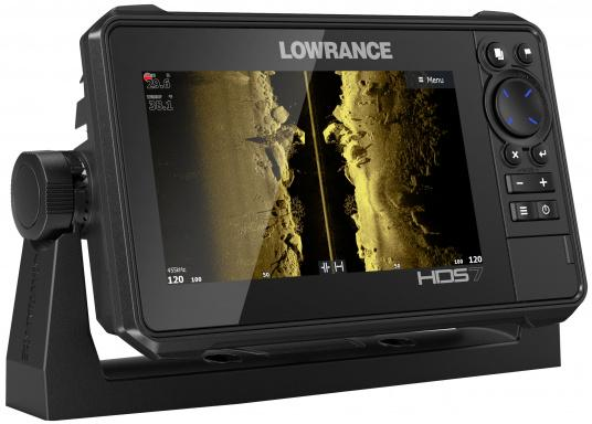 The compact HDS-7 Live includes all the latest Lowrance Fishfinder features with support for Active Imaging™, LiveSight™ real-time sonar, StructureScan® 3D and Genesis Live mapping. Supplied with Active Imaging transducer.  (Imagen 4 of 8)