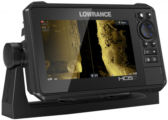 The compact HDS-7 Live includes all the latest Lowrance Fishfinder features with support for Active Imaging™, LiveSight™ real-time sonar, StructureScan® 3D and Genesis Live mapping. Supplied with Active Imaging transducer.  (Imagen 5 of 8)