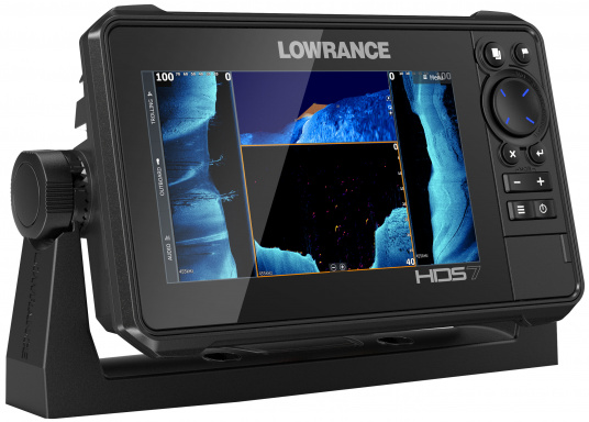 The compact HDS-7 Live includes all the latest Lowrance Fishfinder features with support for Active Imaging™, LiveSight™ real-time sonar, StructureScan® 3D and Genesis Live mapping. Supplied with Active Imaging transducer.  (Imagen 2 of 8)