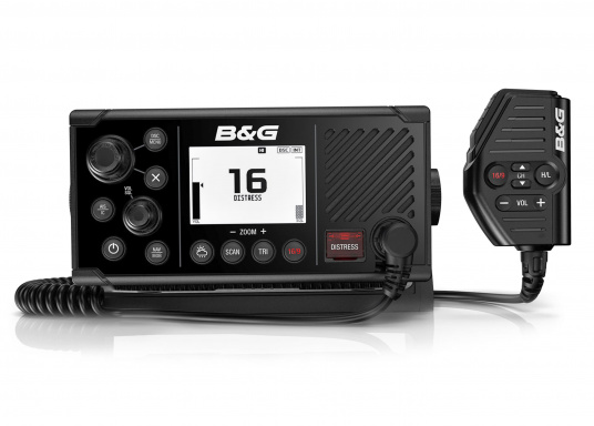 Das UKW SeefunkgerätV60 von B&G verfügt über eine integrierte GPS-Antenne, einen integrierten AIS-Empfänger und überzeugt mit vielseitiger Konnektivität. Ein großes Display mit intuitiver Benutzeroberfläche sorgt für eine übersichtliche und einfache Bedienung. (Bild 2 von 3)