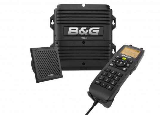 B&G's powerful V90S VHF radio combines intelligent design with advanced technology in a tough, reliable and feature-packed marine communication device.