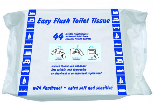 Extra sanftes und sensitives, feuchtes Toilettenpapier mit Panthenol für besonders empfindliche Haut.Es verhindert Verstopfungen in Toiletten- und Abwassersystemen und ist daher ideal für Boots- und Caravan-Toiletten geeignet.