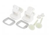 Lid Hinge Set for Comfort Size WC