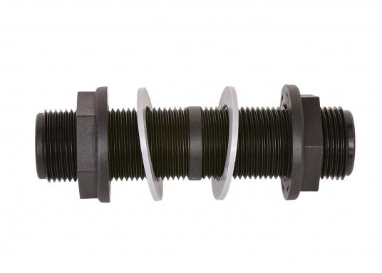 Durchbruch-Gewinderohr aus glasfaserverstärktem Kunststoff. Lieferbar in zwei verschiedenen Größen.Gewindelänge: 140 mm. (Bild 2 von 5)