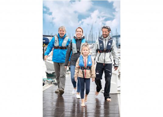 Die ergonomischeSURVIVAL 220 ist mit 220 N Auftrieb für ein Körpergewicht ab 50 kg geeignet. Für Yacht- und Fahrtensegeln, Hochseesegeln (Blauwasser). Optimale Bewegungsfreiheit, für lange Törns geeignet. (Bild 4 von 4)