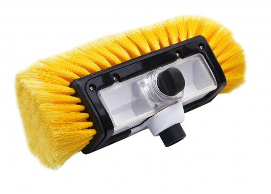 Praktischer Waschbürstenkopf, mit Seitenborsten und Shampoodosierer. (Bild 2 von 3)