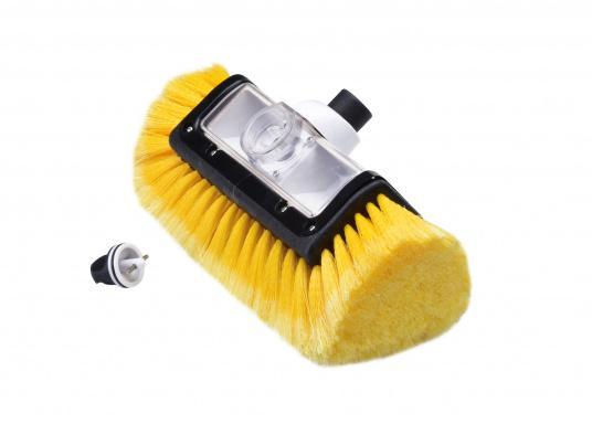 Praktischer Waschbürstenkopf, mit Seitenborsten und Shampoodosierer. (Bild 3 von 3)