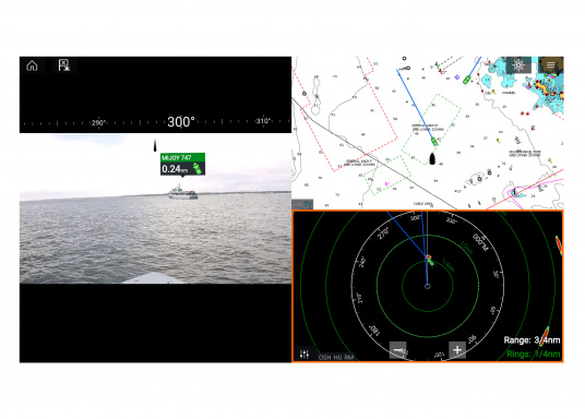 Make intelligent and informed decisions while sailing with Raymarine's Augmented Reality feature. The function enhances awareness by displaying navigation objects directly on a compatible multifunction display in high-definition (HD) quality. Compatible with devices with software version Lighthouse 3.7 or higher. Supplied with camera CAM210. (Afbeelding 7 of 7)